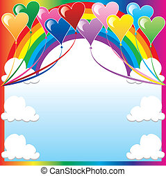 Herzballon-Hintergrund