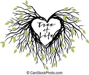 Herzbaum des Lebens, Vektor.