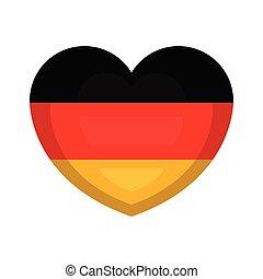 Herzform mit der Flagge Deutschlands