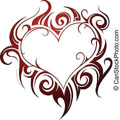 Herzform-Tattoo.