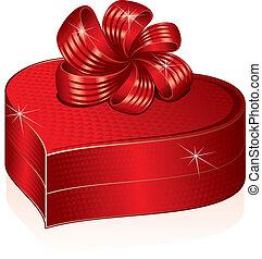 Herzformierte Geschenkbox. Vector-Film