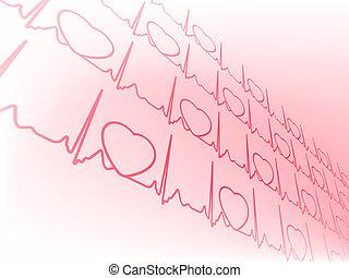 Herzkardiogramm mit Herz. EPS 8