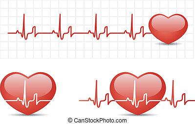 Herzkardiogramm mit Herz