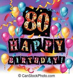 Herzlichen Glückwunsch zum 80-jährigen Geburtstag