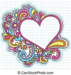 Herzschema-Doodles-Vektor