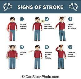 Herzschlag-Symptome infographische Vektor-Icons.