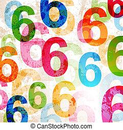 Hintergrund abbrechen mit bunten Regenbogennummern für Design