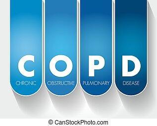 hintergrund, copd, krankheit, lungen, akronym, -, hinderlich, begriff, medizin, chronisch