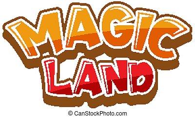 hintergrund, land, design, magisches, weißes, schriftart, wort