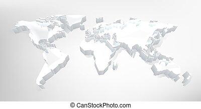 hintergrund, landkarte, 3d, technologie, welt, digital