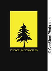 Hintergrund mit Baum abbrechen. Vektor Illustration.