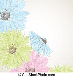 Hintergrund mit Blumen abbrechen.