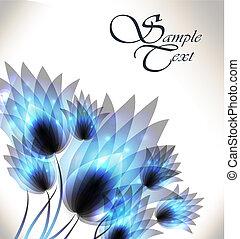 Hintergrund mit Blumen.