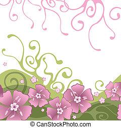 Hintergrund mit Blumen