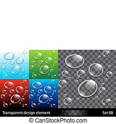 Hintergrund mit bunten Blasen einstellen