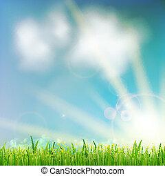 Hintergrund mit grünem Gras.
