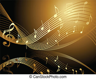 Hintergrund mit Musiknotizen