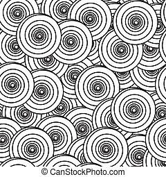 Hintergrund mit Spiralkreisen abbrechen