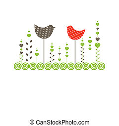 Hintergrund mit Vögeln. Vektor Illustration