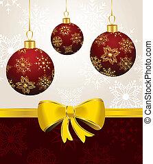 Hintergrund mit Weihnachtsbällen