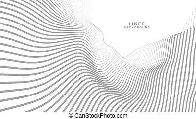hintergrund, wellig, abstrakt, linien, strömend, perspektive