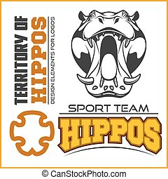 Hippo-Kopf - Sportteam. Maskottchen vektorgrafik