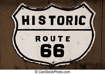 Historische Route 66.