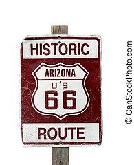 Historische Route 66 Zeichen.