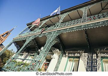 Historische Villa in der Innenstadt von Charleston.