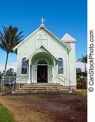 Historischer Stern des Meeres gemalt Kirche in Hilo hawaii.