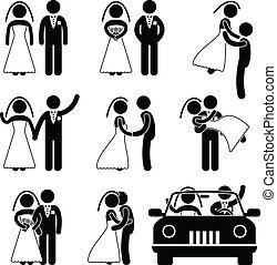 Hochzeits-Braut-Ehe