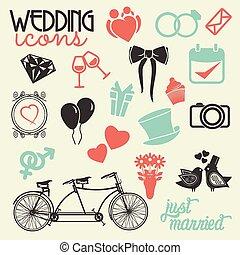 Hochzeits-Ikonenset.