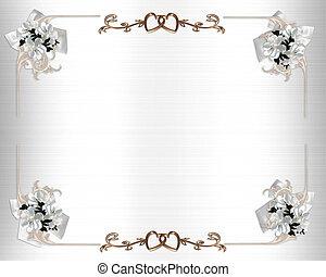 Hochzeitseinladung weißer Blumen