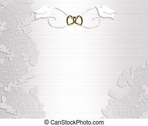 Hochzeitseinladung weißer Tauben
