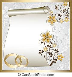 Hochzeitskarte mit Blumenmuster
