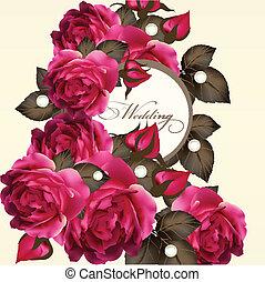 Hochzeitskarten mit Rosen