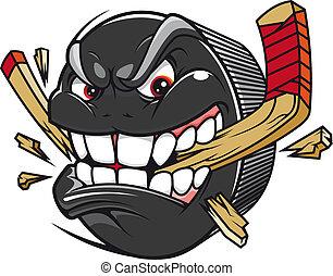 Hockey Puck Break Hockey-Hockey-Stick