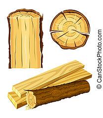 Holzstoffholz und Brett