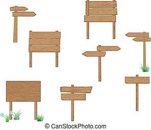 Holzzeichen braun