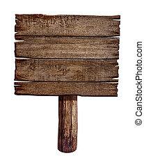 Holzzeichenbrett. Alte Postplatte aus Holz.