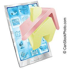 Home icon phone app concept.