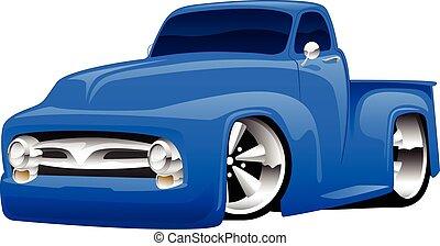 Hot Rod Pickup Truck Illustration.