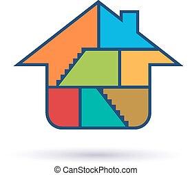 House inside rooms logo.