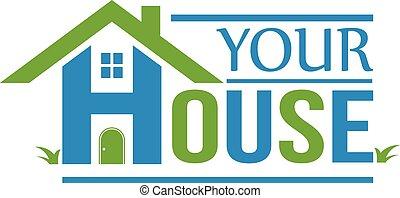 House Logo. Häuser