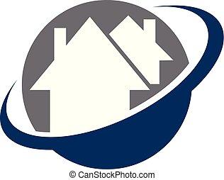House swoosh Logo Design Vorlage Vektor.