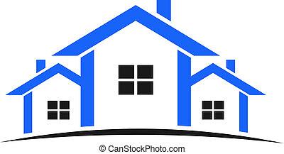 Houses Logo in Blau