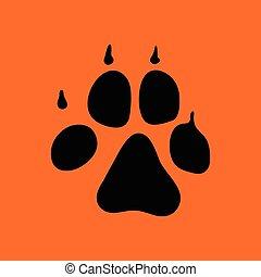 Hundepfad-Ikone