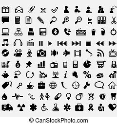Hundert Vektor-Ikonen