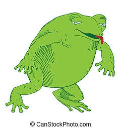 Hungriger Frosch