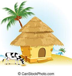 Hut mit Kuh